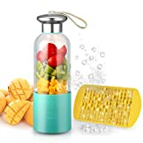 Cheap Personal Smoothie Blender Small Portable Blender USB Rechargeable Juicer Cup Single Served for Shakes and Smoothies, Fruit Mixer Machine for Ice Fruit and Vegetable with Home Office Outdoor Traveling
