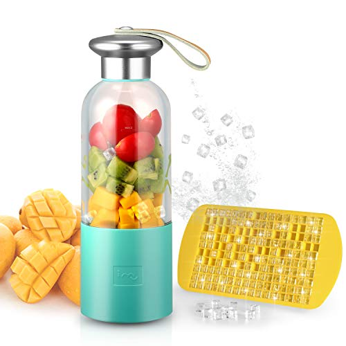 Portable Smoothie Blender Small Blender USB Rechargeable Single Served for Shakes and Smoothies, Fruit Mixer Machine for Ice Fruit and Vegetable with Home Office Outdoor Traveling