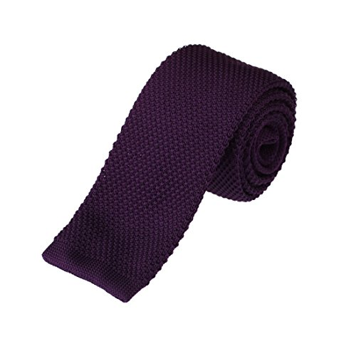 DAO3E01G Indigo Solid Leadership Shopstyle Skinny Neck Tie Woven Microfiber Popular For Meeting By Dan Smith (Mens Solid Skinny Ties compare prices)