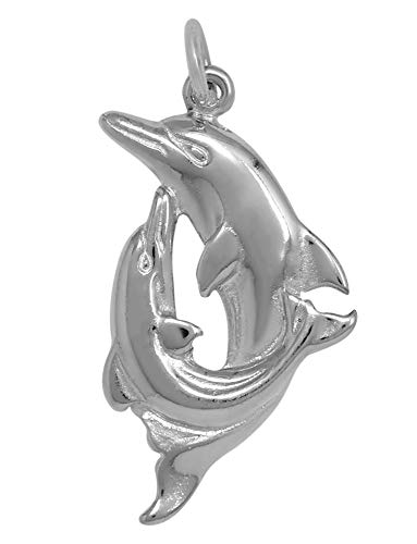 - Raposa Elegance Sterling Silver Double Dolphin Charm (approximately 24 mm x 18.5 mm)