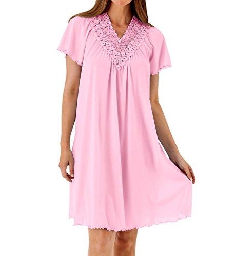 Shadowline Women's Plus Size Beloved 40 Inch Flutter Sleeve Waltz Gown, Pink, - Sleeve Waltz Gown