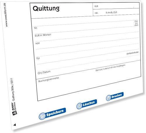 Avery Zweckform 300e Quittung inkl. MwSt. [PDF-Download] (Mac)
