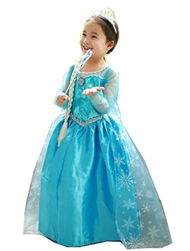 Amazon.com: Frozen Elsa Inspired Girls Costume Dress - Princess ...