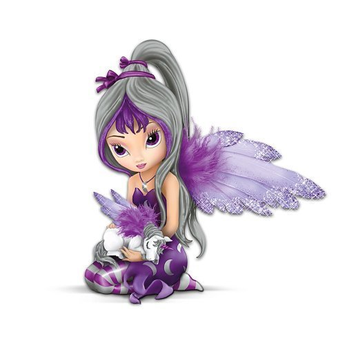 Jasmine Becket-Griffith Fairy And Unicorn Figurine: Midnight Dream by The Hamilton Collection