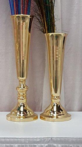 Gold Trumpet Vases Wedding Centerpieces Vase 1 Piece (24'')