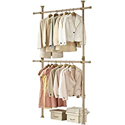 PRINCE HANGER | Premium Wood 2tier Hanger/Wood Color Coated Steel