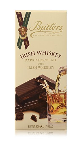 Butlers Chocolate Ireland (Butlers Dark Chocolate Bar Infused With Real Irish Whiskey)