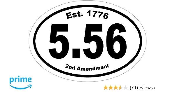 5.56 Vinyl Decal Sticker Ar-15 Bumper Sticker Gun Gifts AR15 Decal