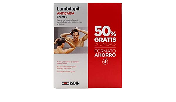 Amazon.com: Lambdapil Anti Hair Loss Shampoo 2 x 200ml - Duplicate Hair Loss From the First Symptoms: Beauty