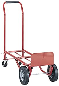 Safco Products 4086R Convertible Heavy-Duty Utility Hand Truck, Red