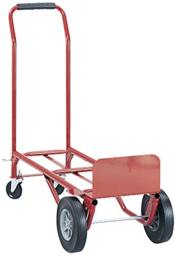 Safco Products 4086R Convertible Heavy-Duty Utility Hand Truck, Red by Safco Products
