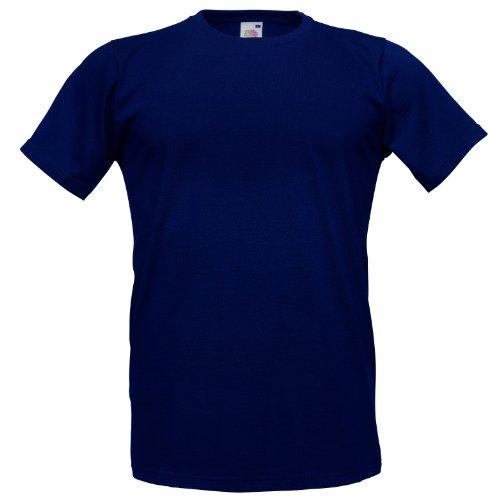 Fruit of the LoomHerren T-Shirt Blau Navy