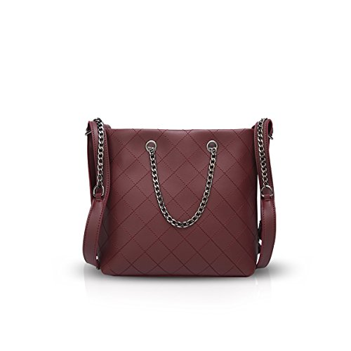 Wine Red Nicole amp;Doris Strap Shoulder Classic Chic Crossbody Long Handbags Chain Bags Bag Z7P7qTwHx