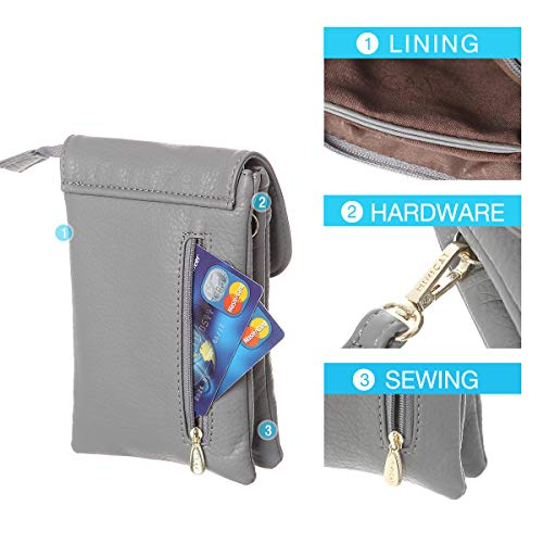 Pockets Minicat Phone Purse Gray Women Roomy Cell Bag Wallet For Small Series Crossbody rrw5qHx6p