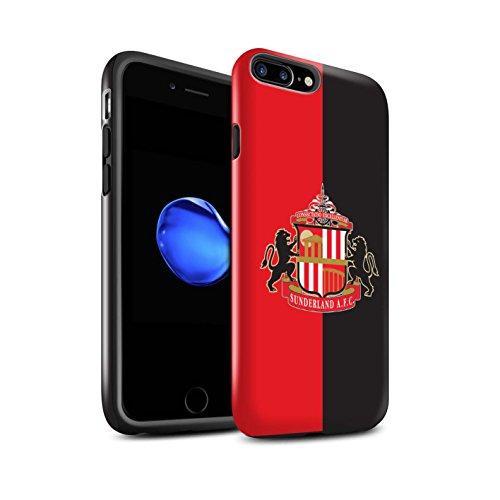 Officiel Sunderland AFC Coque / Brillant Robuste Antichoc Etui pour Apple iPhone 8 Plus / Rouge/Noir Design / SAFC Crête Club Football Collection