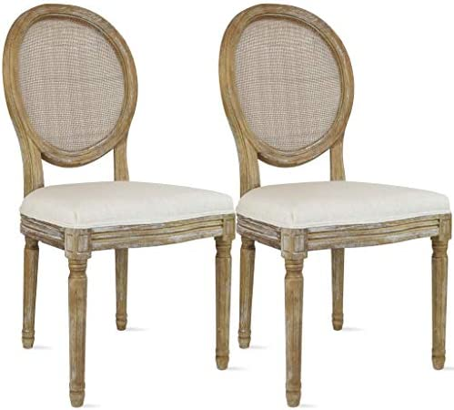 2xhome Cream Color Upholstered Button Tufted Back Fabric Plastic Style Dining Chair Modern Arm Chair