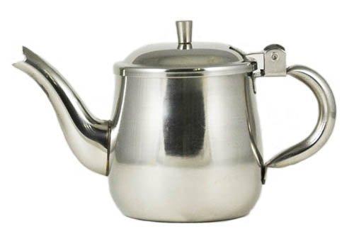 10 oz. (Ounce) Gooseneck Single-Serving Teapot, 18/8 Gauge Stainless Steel Set of 6
