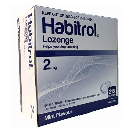 Habitrol Nicotine Lozenge 2mg Mint Flavor. 3 packs of 216 Lozenges (total 648)