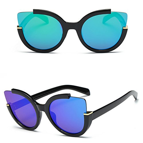 Niceskin Retro Mirrored Sunglasses Shades for Women, Resin and Plastic - Versace Glasses Personality