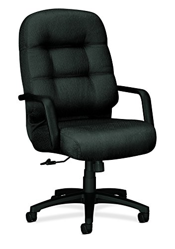 HON Executive Chair - Pillow-Soft Series High-Back Office Chair, Charcoal (H2091) (Seat Polyester Chair Charcoal)
