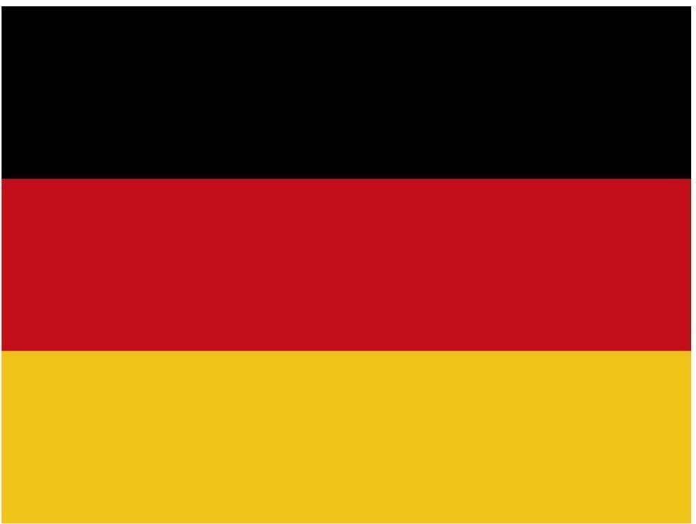 Artimagen Pegatina Bandera Ondeante Alemania 80x60 mm.
