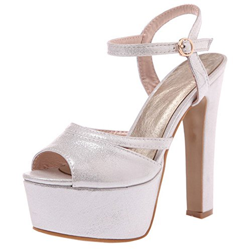 Heels 13CM Sandali Silver Donna Melady Moda qxSpw1ST