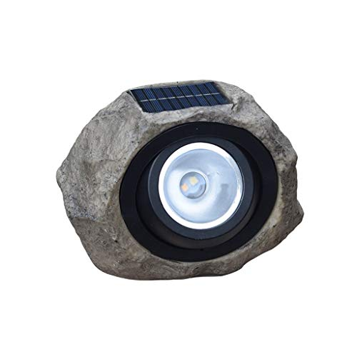 (Wenini LED Solar Lights Simulated Rock Stone Lights, Large Outdoor Garden Solar Decorative Rock Stone Spot Lights Lamp Yard, IP65 Waterproof Level)