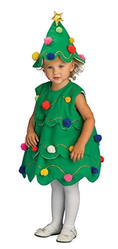Xmas Costumes (Rubie's Costume Lil Xmas Tree Child Costume, Toddler)