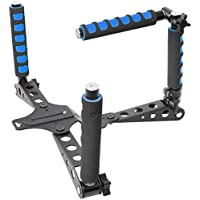 Pro Steady DSLR Rig System with Shoulder Mount For Video Stabilization For DV Cameras/Camcorders - Compact & Travel Size