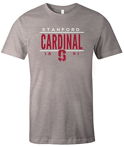 (NCAA Stanford Cardinal Tradition Short Sleeve Tri-Blend T-Shirt, Athletic Grey,Small)