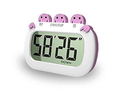 LIANGUK Temporizador de Cocina Magnético Digital 24 horas Cocina Reloj con gran Pantalla LCD Alarma Temporizador
