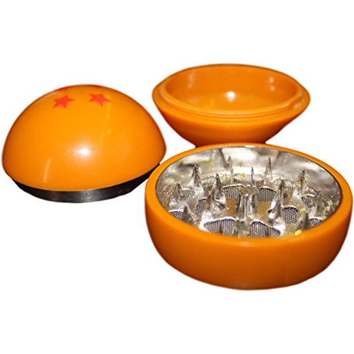 Dragon Ball Z Herb Grinder 3 Piece Herb Grinder With Pollen Catcher 55Mm  2 2 Inches    Best For Herbs   Tobacco   Spices   No Gift Box Included