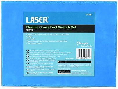 Laser Tools-flexible corbeaux Pied de cl/és 3//8/D 12pc-7165