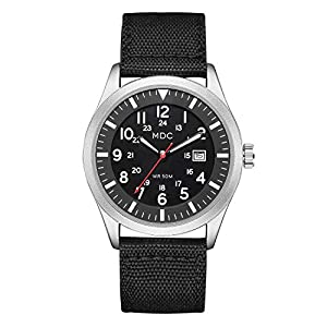 Black Military Analog Wrist Watch for Men, Mens Army Tactical Field Sport Watches Work Watch, Waterproof Outdoor Casual…