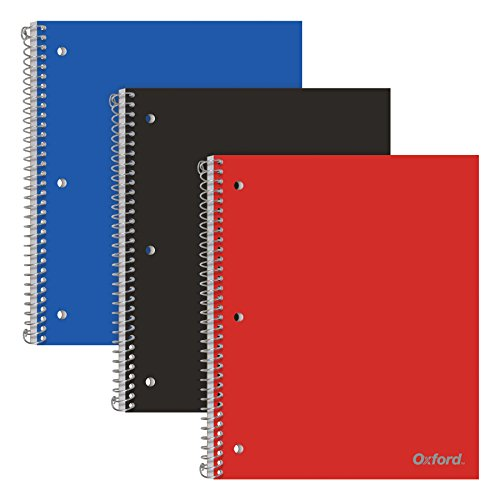 (Oxford 1-Subject Poly Notebooks, 8-1/2