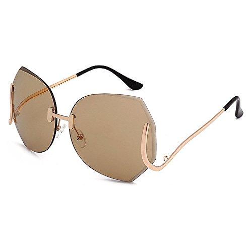 Marrón una Mujeres Especial Sola Libre Gafas Peggy Color Protección Pieza Irregular para Marrón viaja Sol Que de de Estilo UV de Gu Pierna al Aire Conducción aqxaCtwnX4