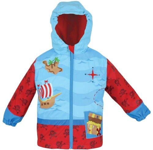 Stephen Joseph Little Boys' Pirate Rain Coat
