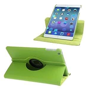 Carcasa Funda de piel para iPad Air función atril, giro Protector-VERDE