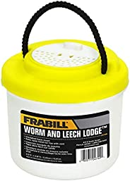 Frabill Worm and Leech Lodge   Ventilated Storage for Worms and Leeches   Specially Designed for Walleye Fishe