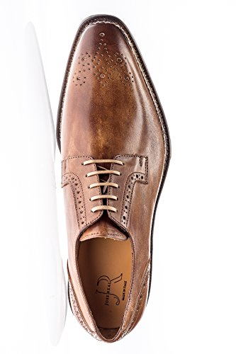 Jose Real Shoes Nordve Collection | Cuoio | Mens Oxford Tan Genuine Real Italian Leather Dress Shoe Tan wVW4b1TO