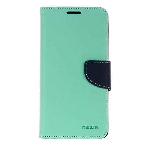 LG V10 funda,COOLKE Dos Colores Funda Carcasa Cuero Tapa Case Cover Para LG V10 - Rose Menta