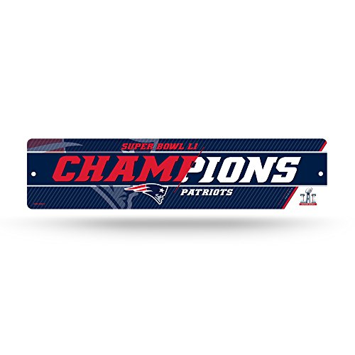 NFL New England Patriots Sign Plastic Parking High Res Super Bowl 51 Champions, One Size, Team Colors ()