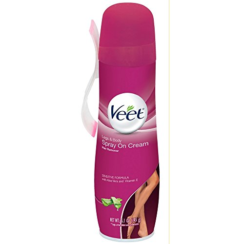 VEET Spray On Hair Removal Cream Sensitive Formula 5.10 oz