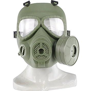 haoYk táctico Dummy anti niebla máscara de gas M04 con Turbo ventilador Airsoft paintbal protección Gear (OD Verde): Amazon.es: Deportes y aire libre