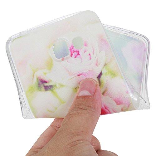 Cuitan Transparente TPU Suave Funda Carcasa para Samsung Galaxy J5 (2016), Moda Patrón Diseño Clear Back Cover Protector Case Cover Caso Cubierta Shell para Samsung Galaxy J5 (2016) - Flamingo Rose