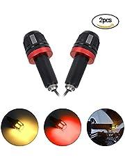 LED Clignotan pour motot,URAQT Modifié Clignotants 12V Bande LED Lampe Poignée et Fit pour Moto Moto Scooter Quad Cruiser