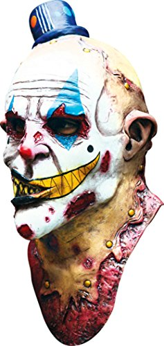 [Mime Zack Evil Monster Scary Zombie Clown Latex Adult Halloween Costume Mask] (Scary Mime)