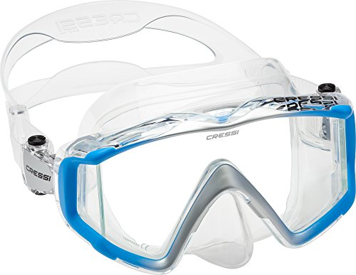 - Cressi Liberty Triside Spe Diving Mask, Clear/Blue/Silver