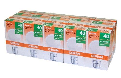 Osram lot de 10 ampoules /à incandescence mat b22 b22d 40 w