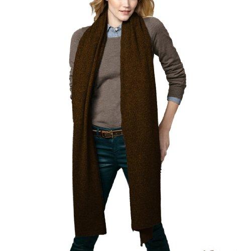 Parisbonbon Women's 100% Cashmere Classic Scarf Color Chocolate One Size by Parisbonbon (Image #1)